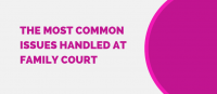 most common issued handled at family court